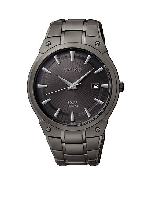 Seiko Mens Solar Black Dial Watch