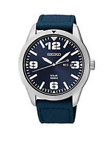 Men's Solar Stainless Steel Watch