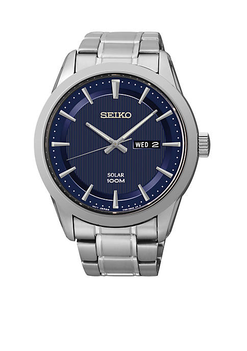 Seiko Mens Stainless Steel Sport Dress Solar Watch