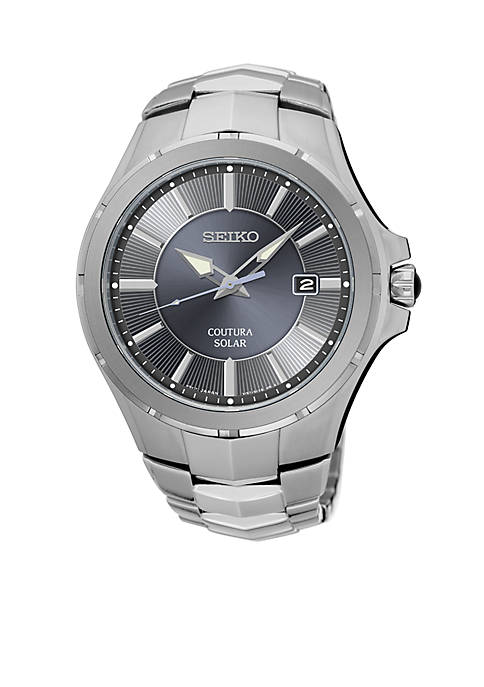 Seiko Mens Coutura Silver-Tone Watch