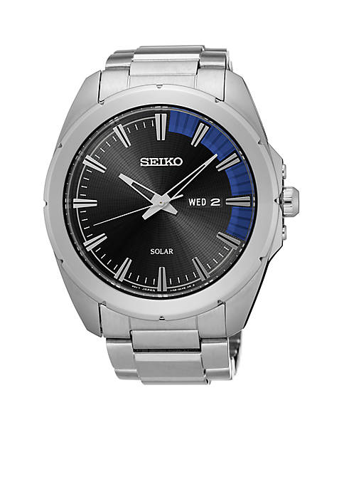 Seiko Mens Recraft Silver-Tone Watch