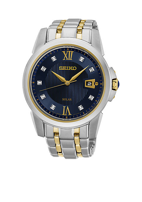 Seiko Mens Le Grand Sport Solar Two-Tone Watch