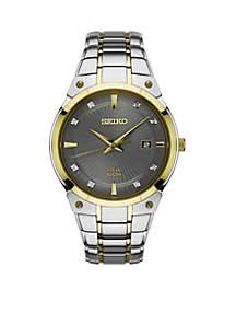 Seiko Men's Solar Two-Tone Watch