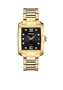 Seiko Men's Gold-Tone Diamond Solar Watch