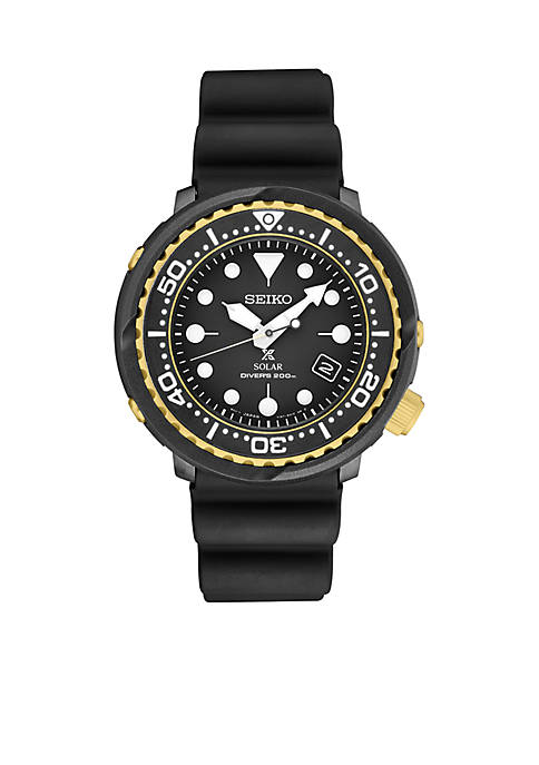 Seiko Mens Two Tone Prospex Solar Diver Watch