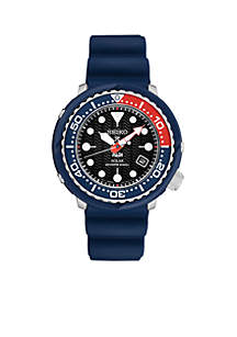Men's Stainless Steel Prospex PADI Special Edition Solar Diver Silicon Strap Watch