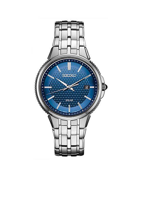 Seiko Mens Stainless Steel Solar Essentials Bracelet Watch