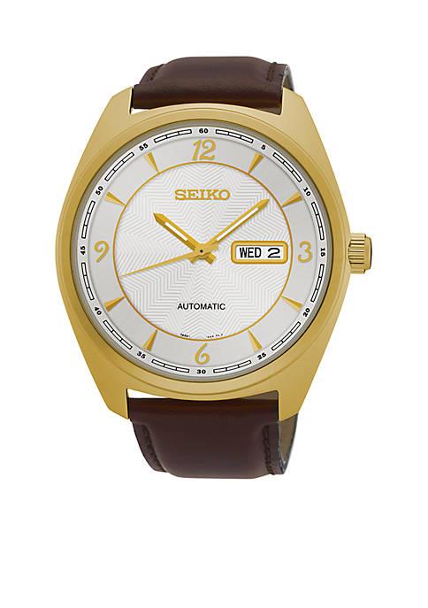 Seiko Mens Recraft Gold-Tone Watch