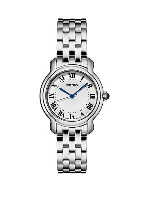 Seiko Stainless Steel Essential Watch With Silver Dial