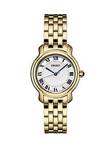 Seiko Ladies' Essential Dress Watch with Silver Dial and Black Roman Numerals