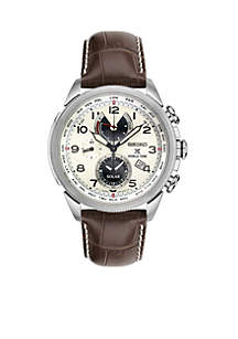 Men's Prospex Brown Leather Chronograph Watch
