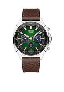 Seiko Men's Recraft Solar Chronograph Green Dial Watch