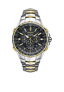 Men's Two-Tone Coutura Radio Sync Solar Chronograph