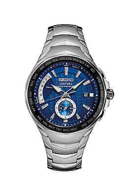 0c008cb4f Seiko Men's Stainless Steel Coutura Radio Sync Solar Watch ...
