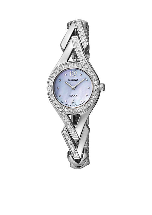 Seiko Womens Stainless Steel Solar Classic Watch