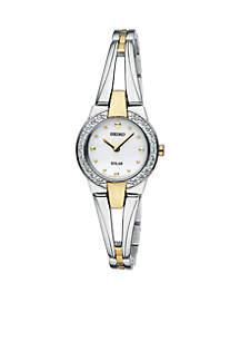 Women's Two Tone Solar Bangle Watch