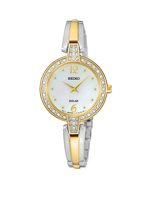 Seiko LADIES SOLAR BNG TT CRY MOP DL:No