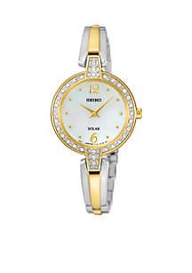 Women's Solar Crystal Bezel Watch