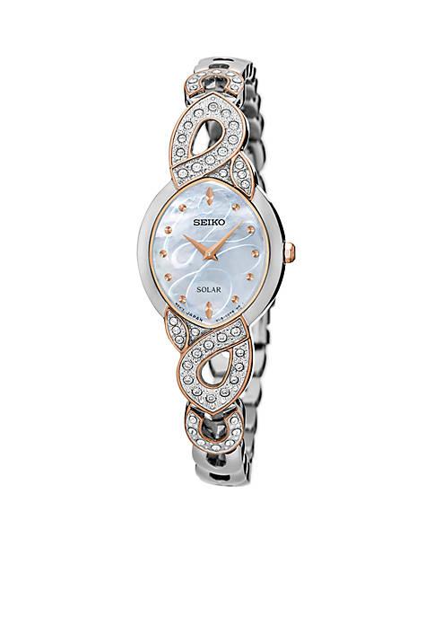 Seiko Ladies Solar Silver Watch