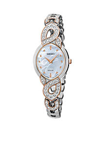 Ladies Solar Silver Watch