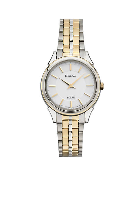 Seiko Womens Solar Two-Tone Stainless Steel Watch