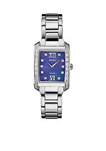 Womens Stainless Steel Solar Mop Bracelet Watch