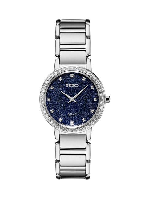 Seiko Womens Solar Stainless Steel Bracelet Watch