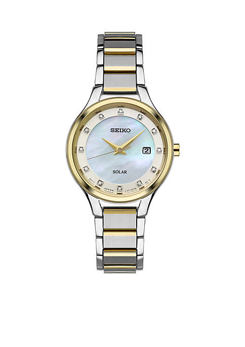 Seiko Women€™s Two-Tone Stainless Steel Solar