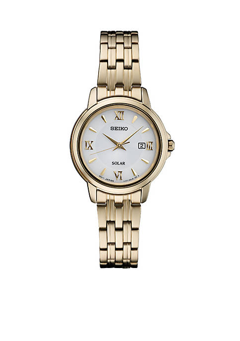 Seiko Solar Gold-Tone Watch