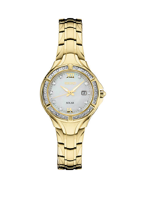 Seiko Diamonds Mother Of Pearl Dial Watch