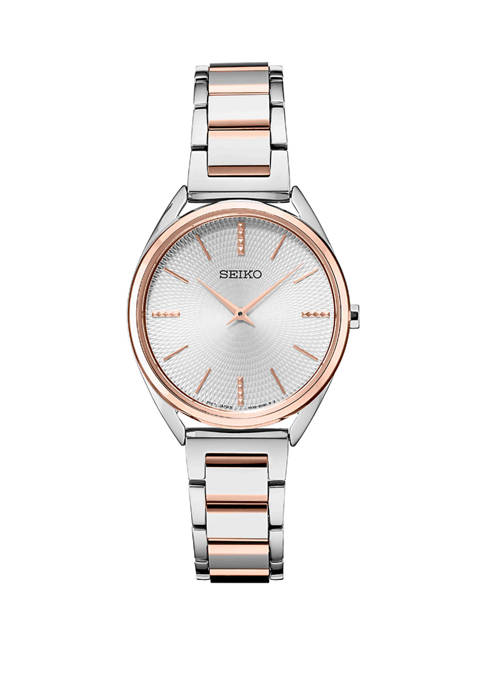 Seiko Womens Japanese Quartz Two Tone Stainless Steel