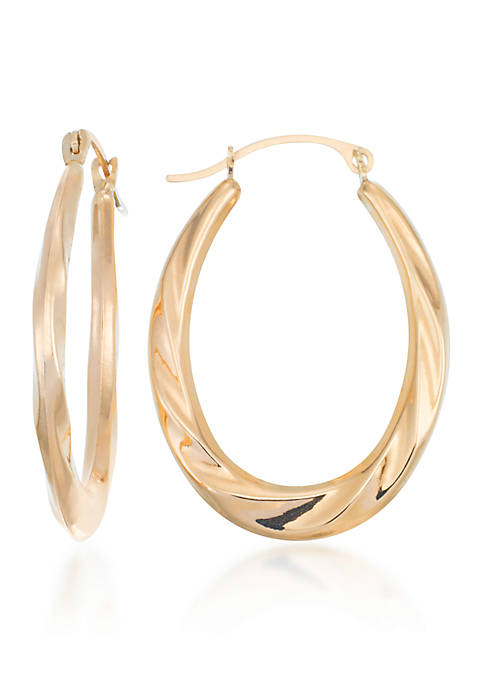 Belk & Co. 10k Yellow Gold Oval Hoop