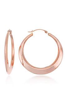 10k Rose Gold Hoop Earrings