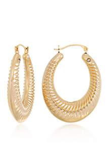 Modern Gold™ 14k Yellow Gold Oval Hoop Earrings