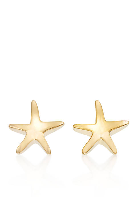Belk & Co. 14k Yellow Gold Starfish Stud