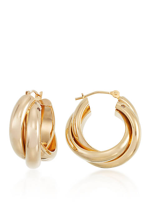 Modern Gold™ 14k Yellow Gold Double Hoop Earrings