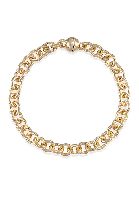 Modern Gold™ 14k Yellow Gold Chain Bracelet