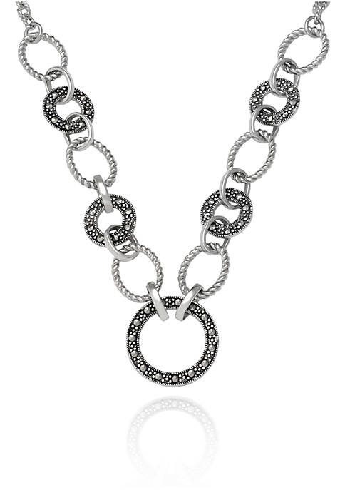 Belk & Co. Genuine Marcasite Link Necklace in