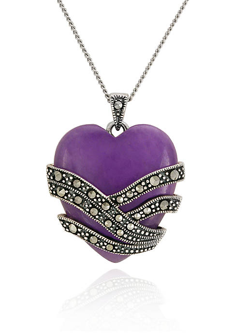 Belk & Co. Genuine Marcasite and Purple Agate