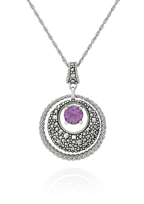 Belk & Co. Genuine Marcasite and Amethyst Circle