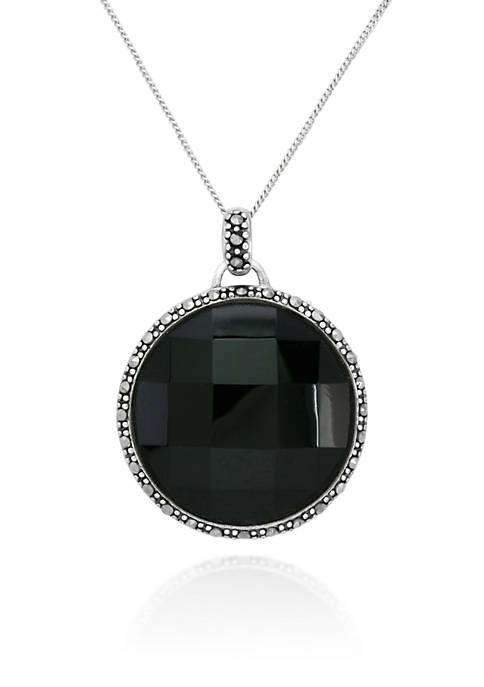 Belk & Co. Genuine Marcasite and Black Agate