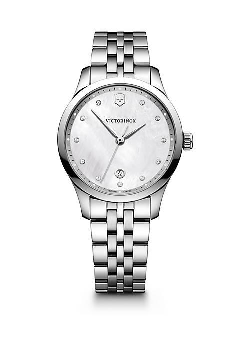 Stainless Steel Swiss Alliance Bracelet Watch 35 mm
