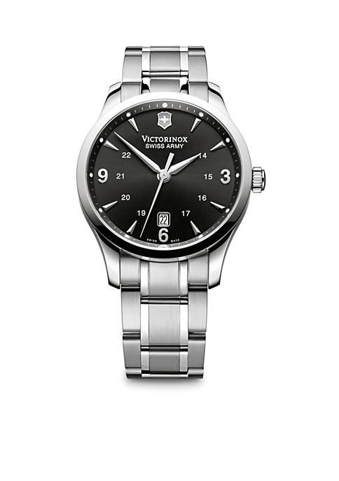 Alliance Large Black Dial Bracelet Watch