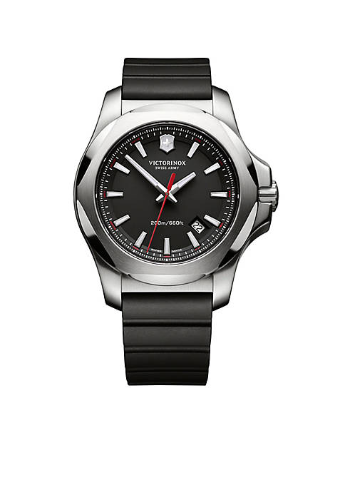Inox Black Rubber Watch
