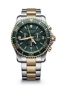 Victorinox Swiss Army, Inc Men's Two Tone Maverick Bracelet Watch