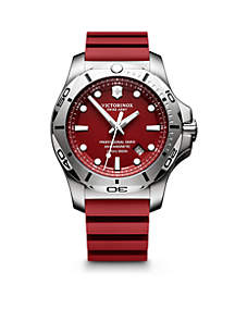 Men's I.N.O.X. Professional Diver Red Dial Watch