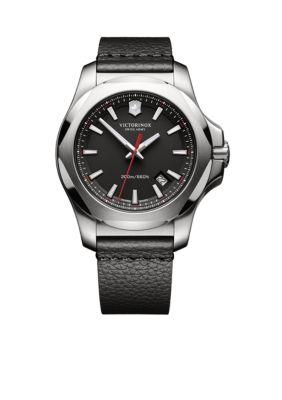 Victorinox Swiss Army  Inc  Men's I.N.O.X. Black Dial Watch -  54001182417371
