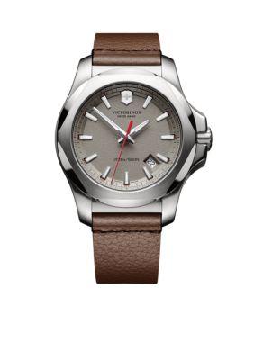 Victorinox Swiss Army  Inc  Men's I.N.O.X. Grey Dial Watch -  54001182417381