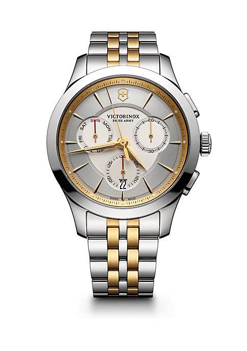 2-Tone Stainless Steel Bracelet Watch