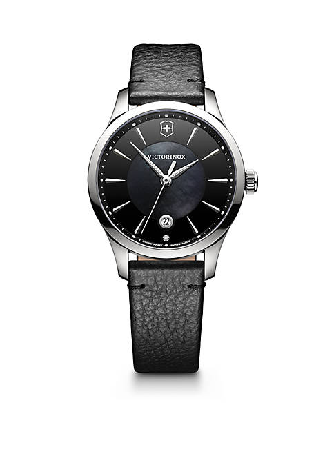 Victorinox Swiss Army, Inc Womens Black and Silver-Tone